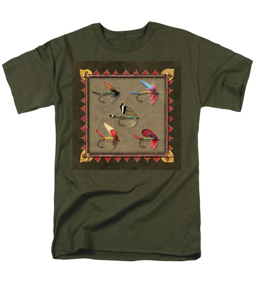 Men's T-Shirt  (Regular Fit) featuring the painting Antique Fly Panel by JQ Licensing