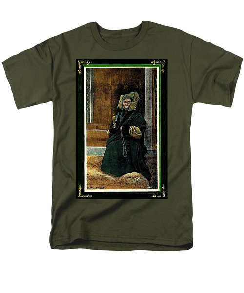 Men's T-Shirt  (Regular Fit) featuring the painting Antique Tibetan Lama by Peter Gumaer Ogden