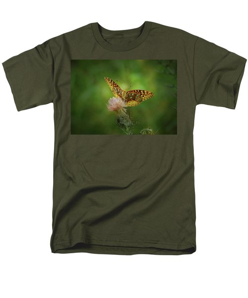 Men's T-Shirt  (Regular Fit) featuring the photograph Aphrodite Fritillary Butterfly by Sandy Keeton