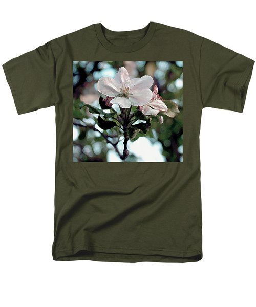 Men's T-Shirt  (Regular Fit) featuring the painting Apple Blossom Time by RC DeWinter