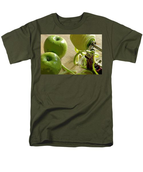 Apples Getting Peeled Men's T-Shirt  (Regular Fit) by Debra Baldwin
