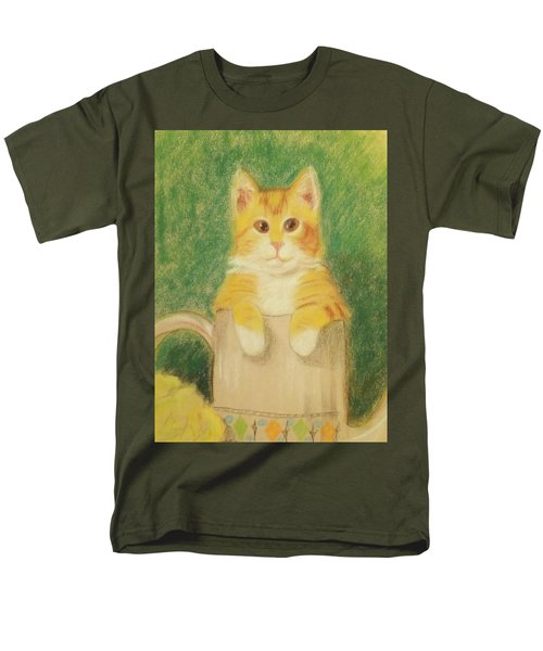 Men's T-Shirt  (Regular Fit) featuring the drawing Are You Sure It's Ok To Be In Here? by Denise Fulmer