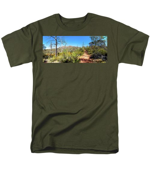 Men's T-Shirt  (Regular Fit) featuring the photograph Arkaroo Rock Hiking Trail.wilpena Pound by Bill Robinson