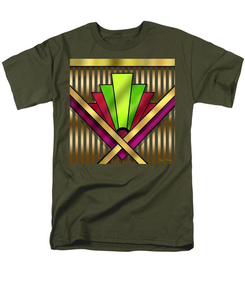 Art Deco 13 Transparent Men's T-Shirt  (Regular Fit) by Chuck Staley