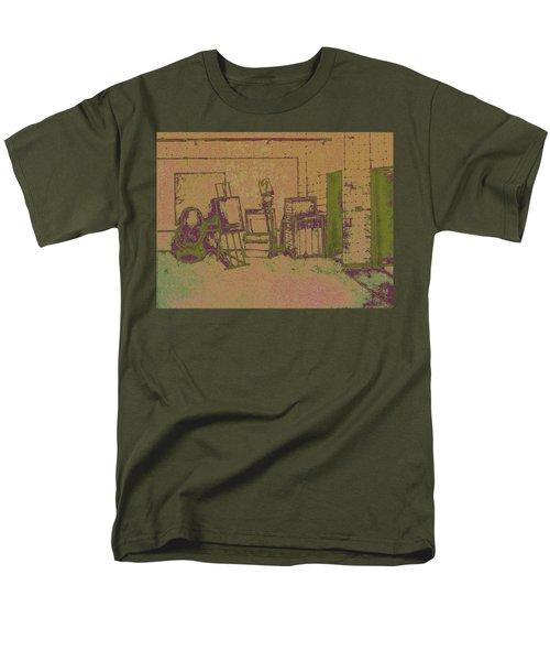 Art Intro Mixed Media Men's T-Shirt  (Regular Fit) by Hye Ja Billie