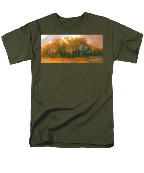 Men's T-Shirt  (Regular Fit) featuring the photograph Artistic Fall Colors In The Blue Ridge Ap by Dan Carmichael