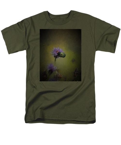 Men's T-Shirt  (Regular Fit) featuring the photograph Artistic Two Beetles On A Thistle Flower by Leif Sohlman