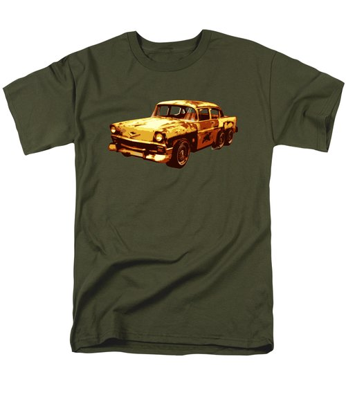 Roadrunner The Snake And The 56 Chevy Rat Rod Men's T-Shirt  (Regular Fit) by Chas Sinklier