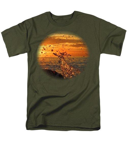 Ocean Splash Men's T-Shirt  (Regular Fit) by L Hollis