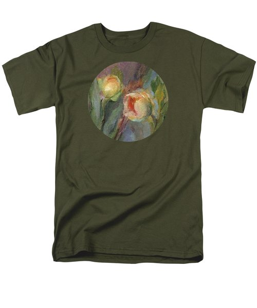 Men's T-Shirt  (Regular Fit) featuring the painting Evening Bloom by Mary Wolf