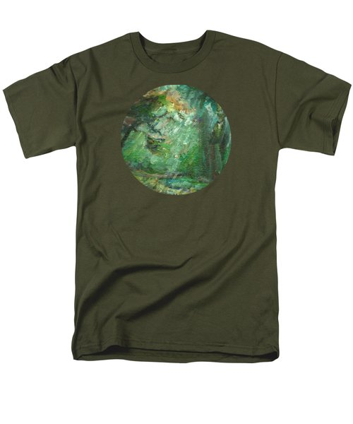 Men's T-Shirt  (Regular Fit) featuring the painting Rainy Woods by Mary Wolf