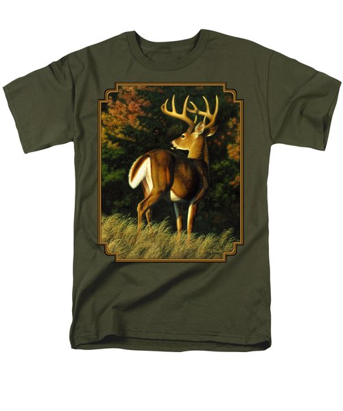 Whitetail Buck - Indecision Men's T-Shirt  (Regular Fit) by Crista Forest