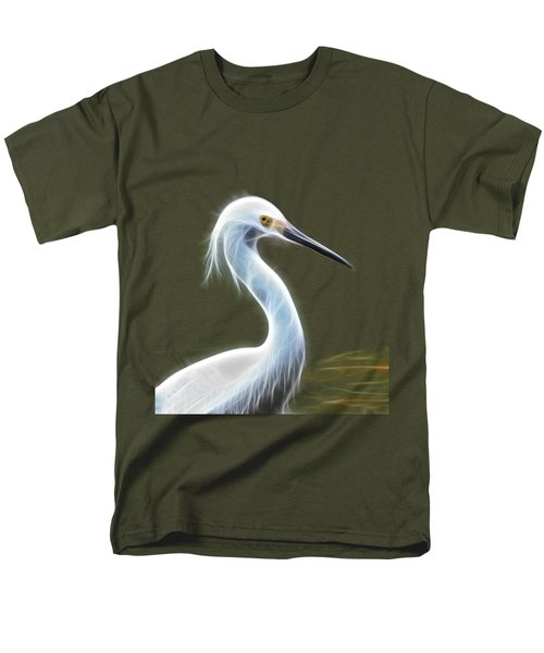 Snow Egret Men's T-Shirt  (Regular Fit) by Shane Bechler