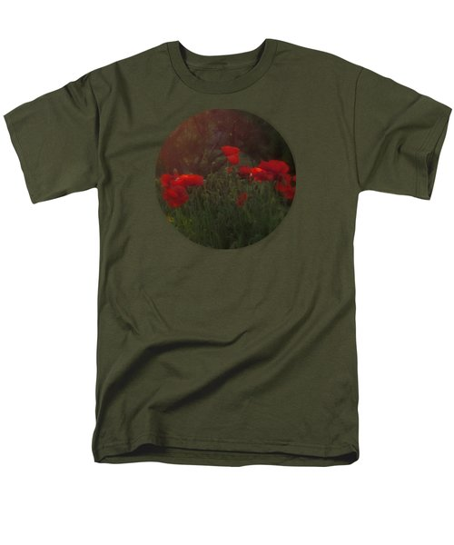 Sunset In The Poppy Garden Men's T-Shirt  (Regular Fit) by Mary Wolf