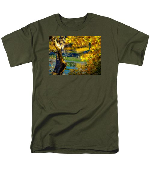 Men's T-Shirt  (Regular Fit) featuring the photograph As Fall Leaves by Glenn Feron