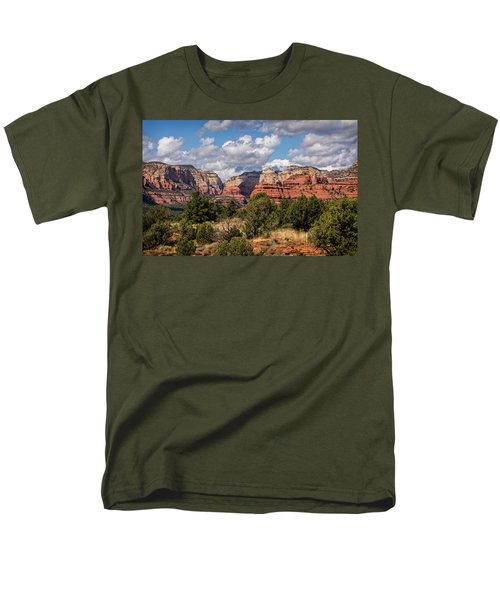 Men's T-Shirt  (Regular Fit) featuring the photograph As The Clouds Pass On By In Sedona  by Saija Lehtonen