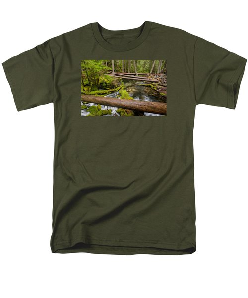 As The Creek Flows Men's T-Shirt  (Regular Fit) by Greg Nyquist