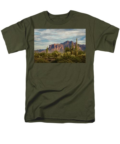 Men's T-Shirt  (Regular Fit) featuring the photograph As The Evening Arrives In The Sonoran  by Saija Lehtonen