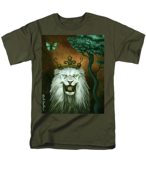 Men's T-Shirt  (Regular Fit) featuring the painting As The Lion Laughs by Leah Saulnier The Painting Maniac
