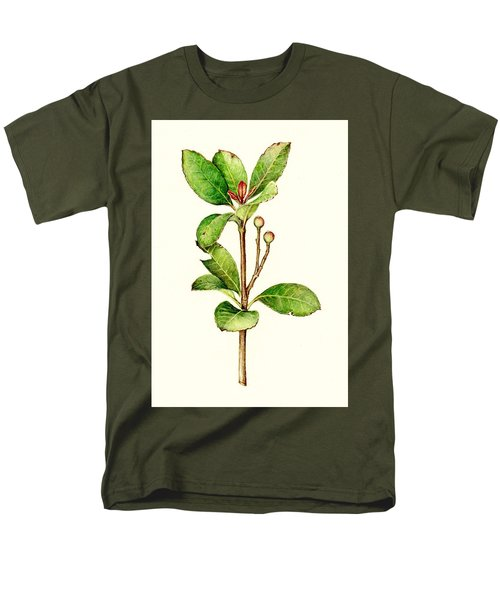 Men's T-Shirt  (Regular Fit) featuring the painting As The Twig Is Bent The Tree Inclines. by Heidi Kriel