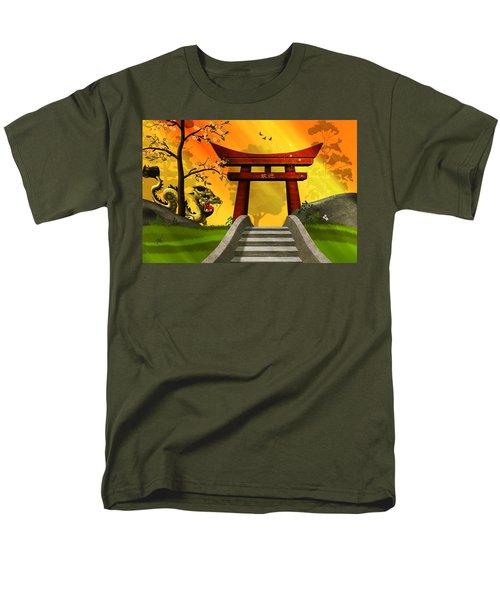 Asian Art Chinese Landscape  Men's T-Shirt  (Regular Fit) by John Wills