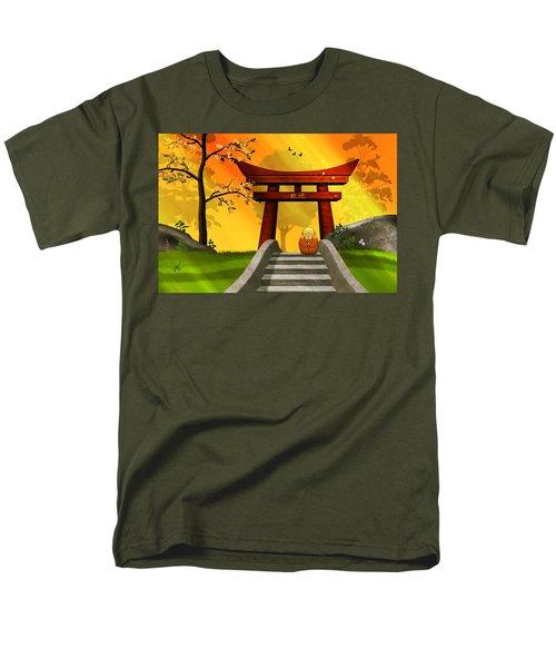 Asian Art Chinese Spring Men's T-Shirt  (Regular Fit) by John Wills