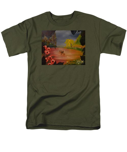 Men's T-Shirt  (Regular Fit) featuring the painting Asian Lillies by Denise Tomasura