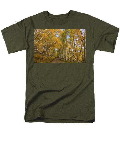 Men's T-Shirt  (Regular Fit) featuring the photograph Aspen Alley by Steve Stuller