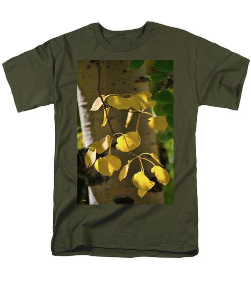 Men's T-Shirt  (Regular Fit) featuring the photograph Aspen Closeup by Dana Sohr