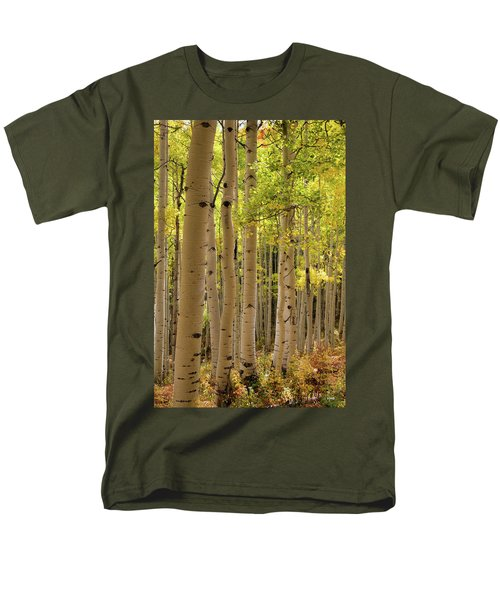 Men's T-Shirt  (Regular Fit) featuring the photograph Aspen Grove by Dana Sohr