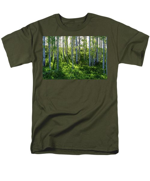 Men's T-Shirt  (Regular Fit) featuring the photograph Aspen Morning 1 by Marie Leslie