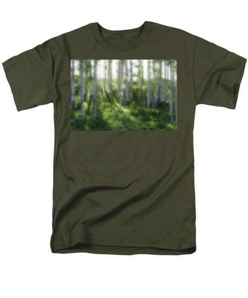 Men's T-Shirt  (Regular Fit) featuring the photograph Aspen Morning 2 by Marie Leslie