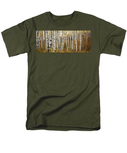 Aspen Tree Grove Men's T-Shirt  (Regular Fit) by Ron Dahlquist - Printscapes