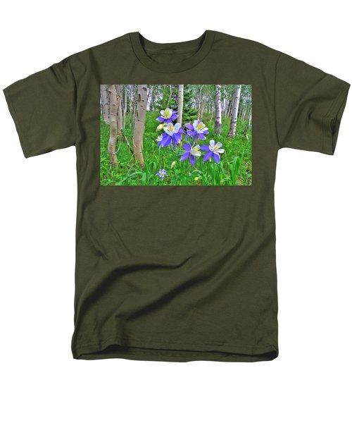 Aspens And Columbines Men's T-Shirt  (Regular Fit) by Scott Mahon