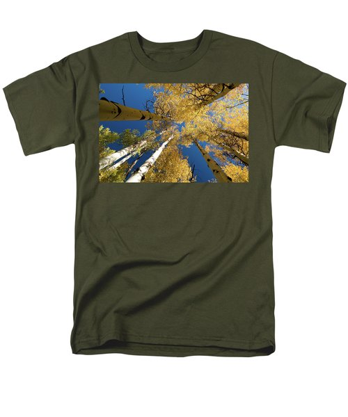 Men's T-Shirt  (Regular Fit) featuring the photograph Aspens Up by Steve Stuller
