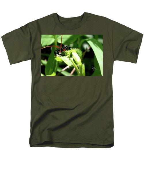 Men's T-Shirt  (Regular Fit) featuring the photograph Assassin Bug by Meta Gatschenberger