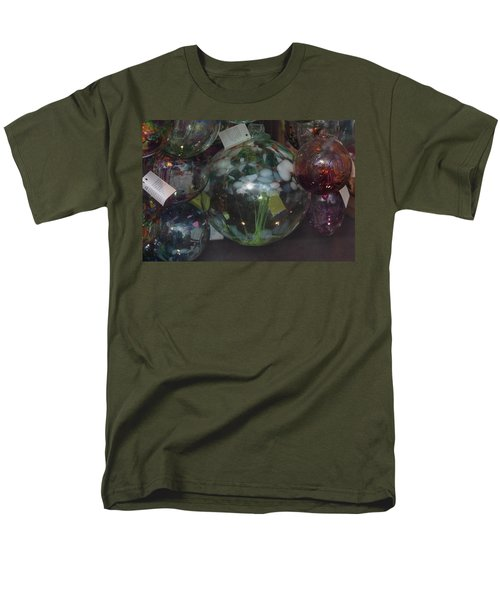 Men's T-Shirt  (Regular Fit) featuring the photograph Assorted Witching Balls by Suzanne Gaff
