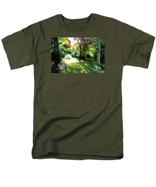 Men's T-Shirt  (Regular Fit) featuring the photograph At Claude Monet's Water Garden 7 by Dubi Roman