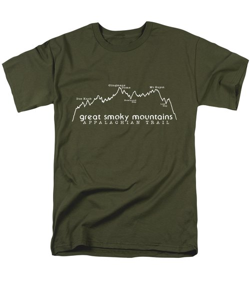 At Elevation Profile Gsm White Men's T-Shirt  (Regular Fit) by Heather Applegate