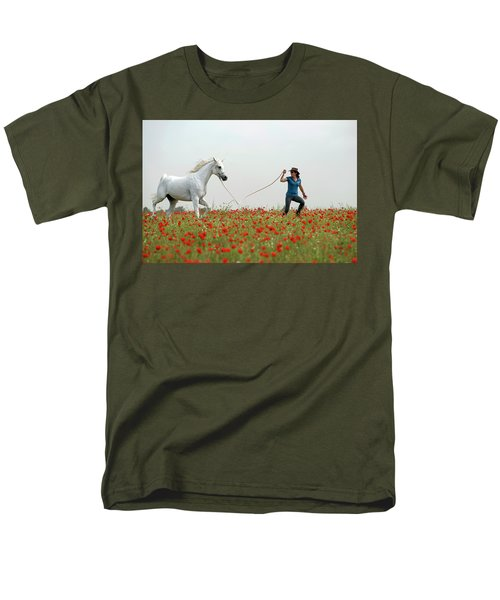 At The Poppies' Field... 2 Men's T-Shirt  (Regular Fit) by Dubi Roman