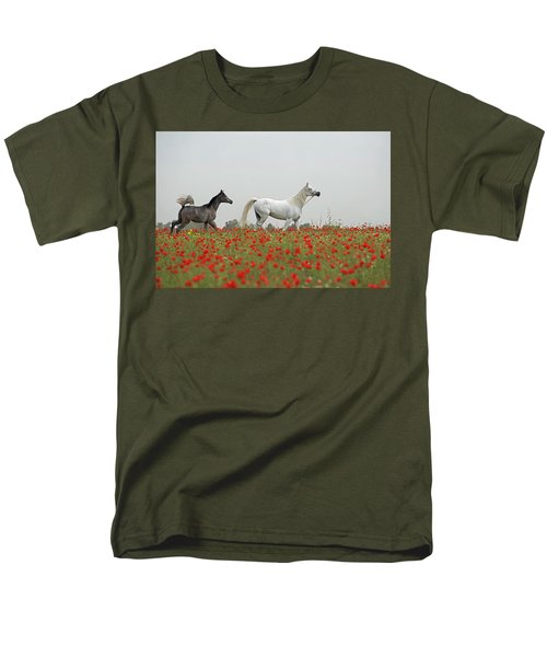 At The Poppies' Field... Men's T-Shirt  (Regular Fit) by Dubi Roman