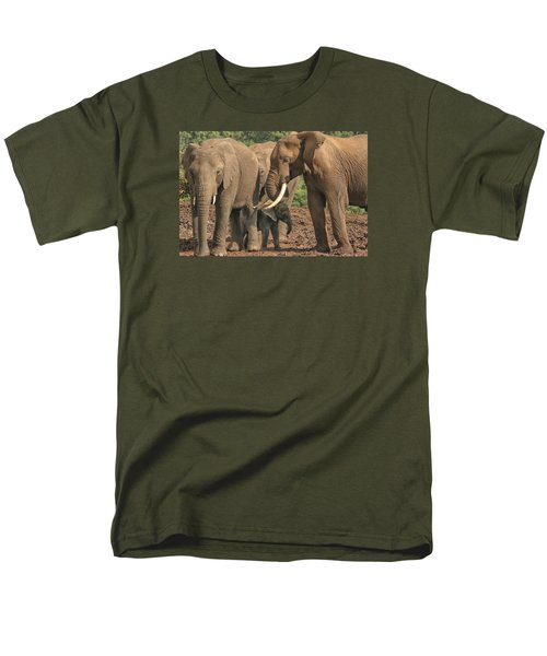 Men's T-Shirt  (Regular Fit) featuring the photograph At The Salt Lick by Gary Hall