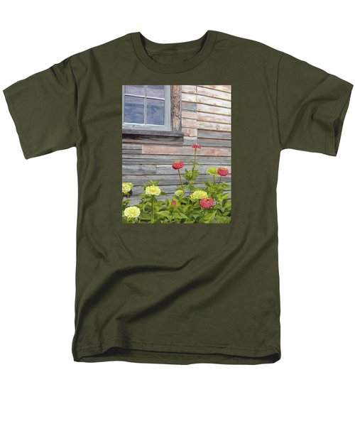 Men's T-Shirt  (Regular Fit) featuring the painting At The Shelburne by Lynne Reichhart