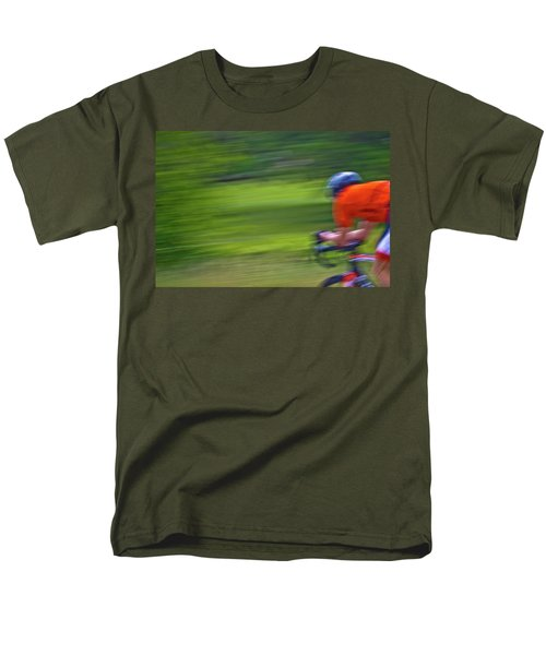 Men's T-Shirt  (Regular Fit) featuring the photograph At The Speed Of Light by Linda Unger
