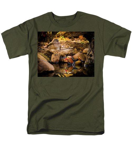 At The Waters Edge - Mandarin Ducks Men's T-Shirt  (Regular Fit)