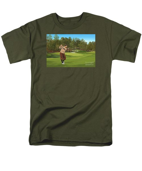 Augusta 11 And 12th Hole Bobbyjones Men's T-Shirt  (Regular Fit) by Tim Gilliland