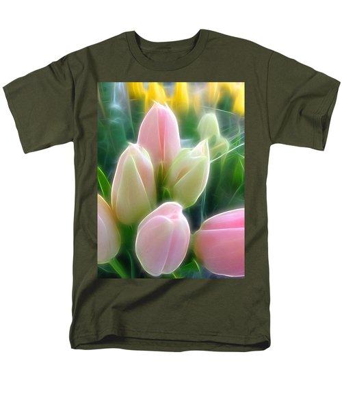 Aura Of Tulip Men's T-Shirt  (Regular Fit)