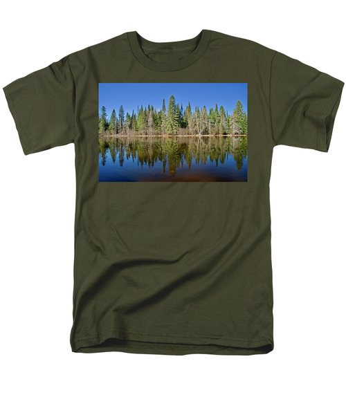 Men's T-Shirt  (Regular Fit) featuring the photograph Ausable Reflections 1768 by Michael Peychich