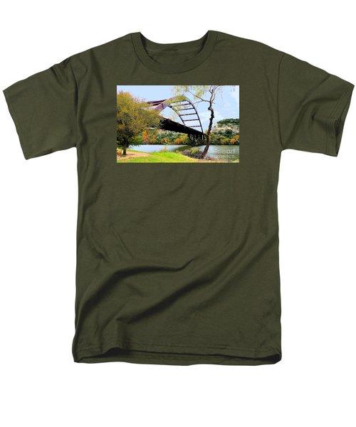 Austin Pennybacker Bridge In Autumn Men's T-Shirt  (Regular Fit) by Janette Boyd