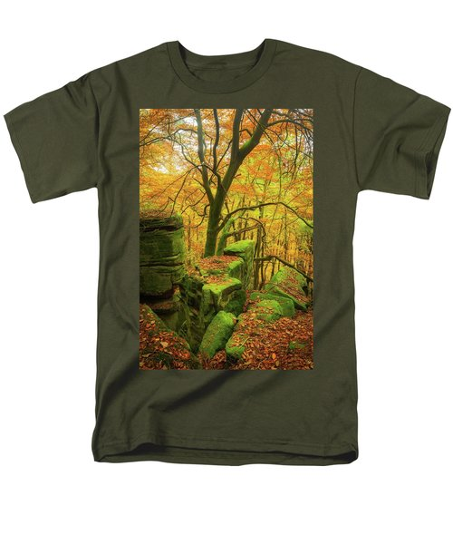 Men's T-Shirt  (Regular Fit) featuring the photograph Automnal Glow by Maciej Markiewicz